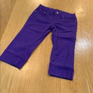Vigoss Purple Crop 😈 Jeans Size 9-10